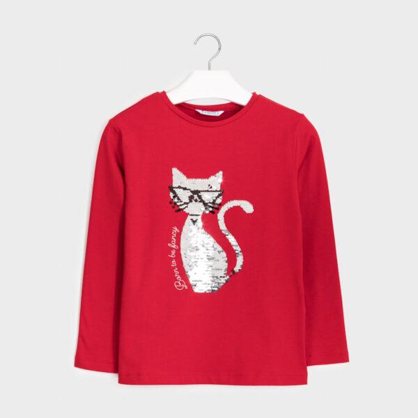 Camiseta manga larga gato