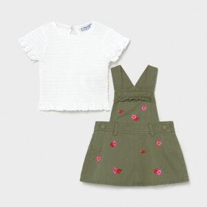 Conjunto falda peto caki bordado Newborn Mayoral