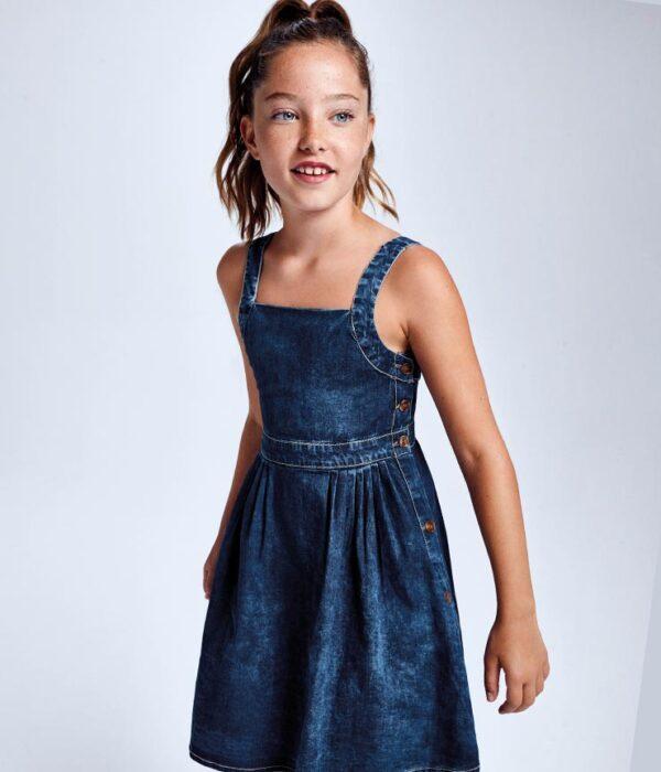 Vestido tejano tirantes niña Mayoral