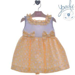 Vestido infantil amarillo Yoedu familia Álamo