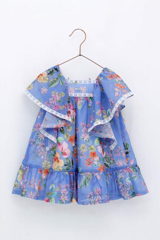 Vestido niña mangas vuelo Foque Colección Sun Flowers