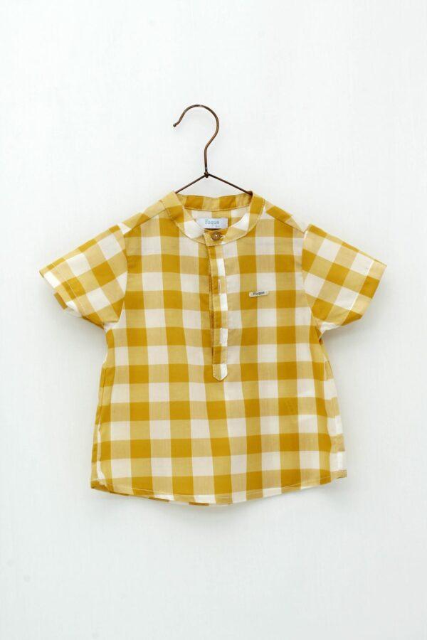 Camisa cuadros bebé niño Foque Colección Safari