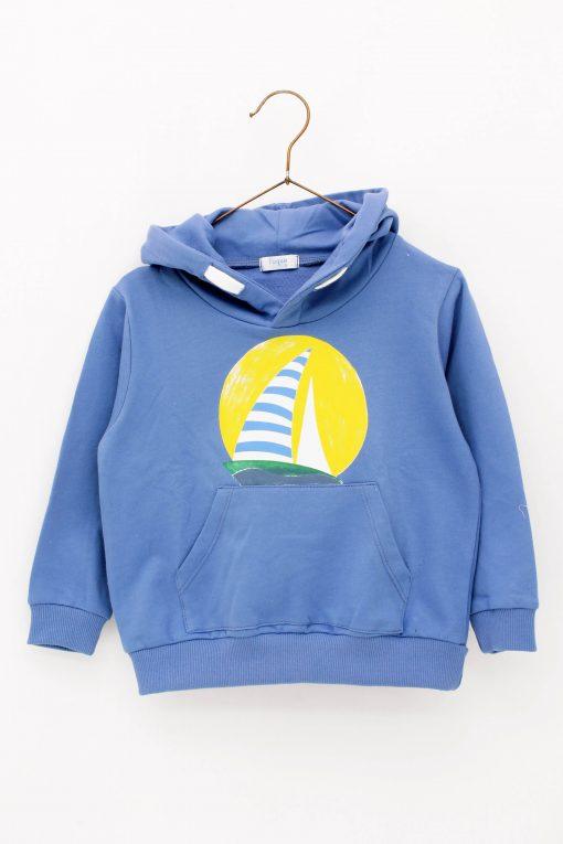 Sudadera niño velero azul Foque colección Sun Flowers