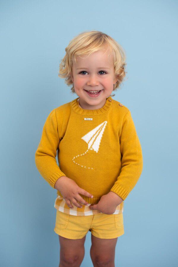 Jersey bebé niño color mostaza Foque colección Safari