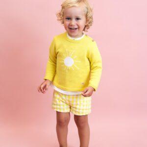 Jersey amarillo bebé niño Foque Sun Flowers