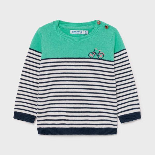 Jersey franjas bebé niño Aqua Mayoral
