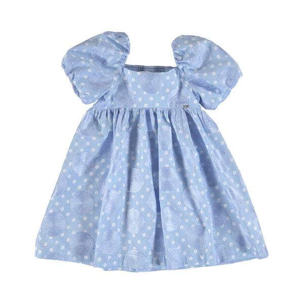 Vestido azul topos niña Mayoral