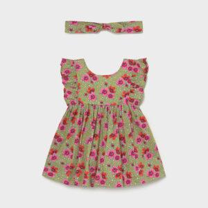 Vestido estampado 2 piezas bebé niña Mayoral