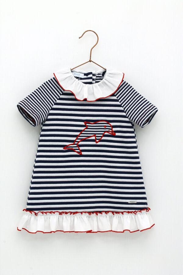Vestido marinero algodón Foque