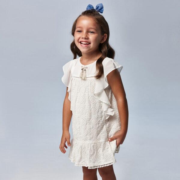 Vestido gasa bordado niña Mayoral