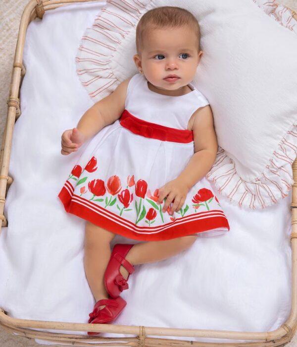 Vestido cenefa con braguita recién nacida niña Newborn Mayoral