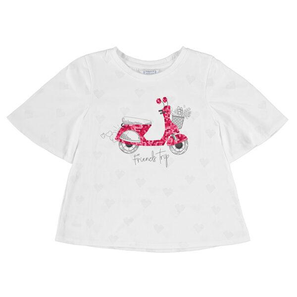 Camiseta devoré lentejuelas chica Mayoral
