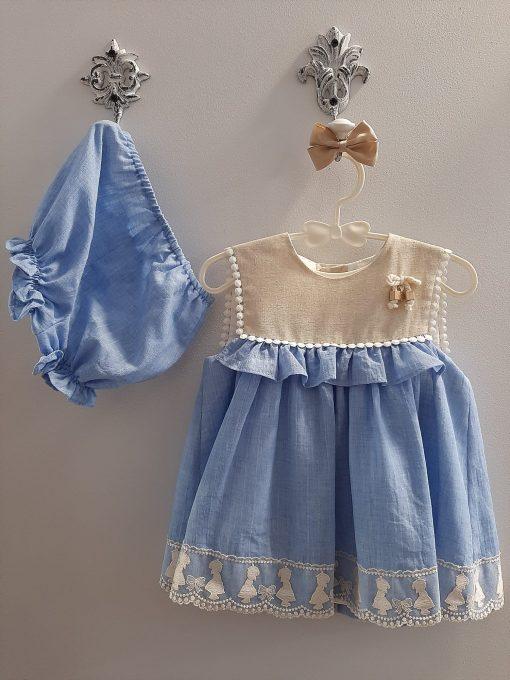 Vestido bebé niña con pololo familia Cromos de Marta y Paula