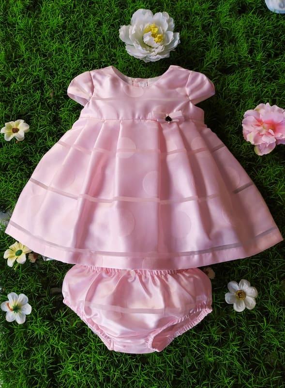 Vestido rosa con braguita primera puesta Newborn de Mayoral