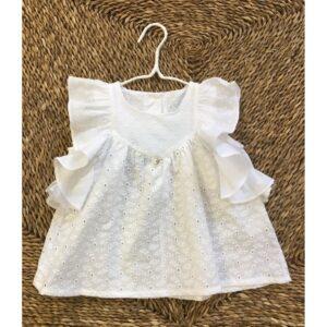 Blusa blanca niña Foque