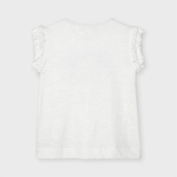 Camiseta apliques flores niña Mayoral