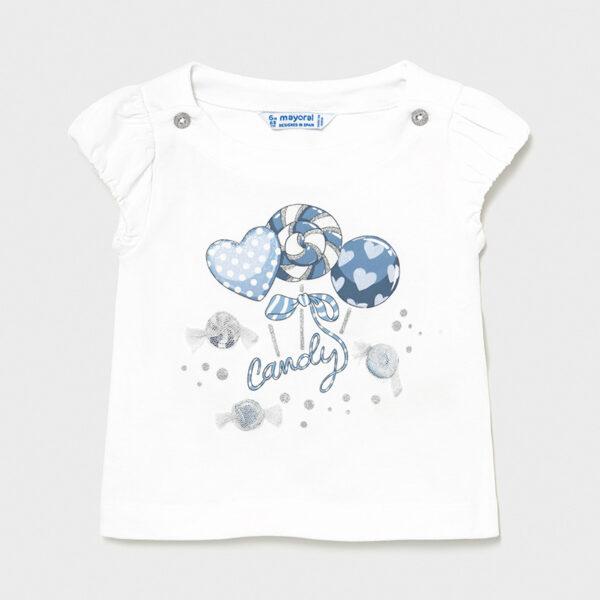 Camiseta Ecofriends golosinas bebé niña Mayoral