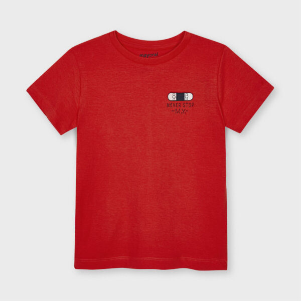 Camiseta manga corta never stop niño Mayoral
