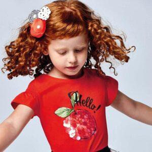 Camiseta Ecofriends serigrafía niña Mayoral