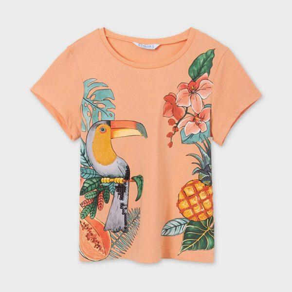 Camiseta manga corta gráfica chica Mayoral