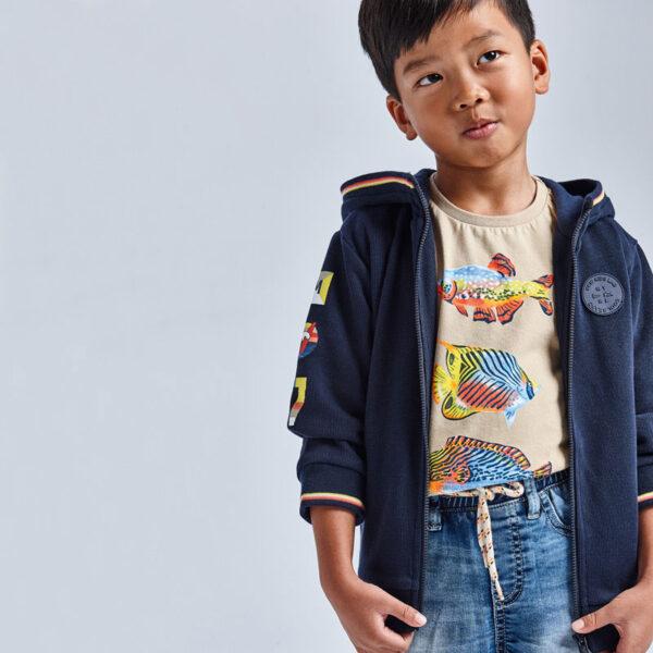 Camiseta manga corta peces niño Mayoral