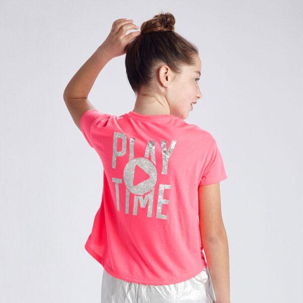 Camiseta manga corta Play Time chica Mayoral