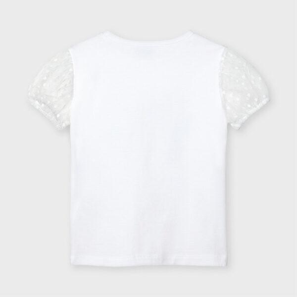 Camiseta manga corta plumeti estampada niña Mayoral