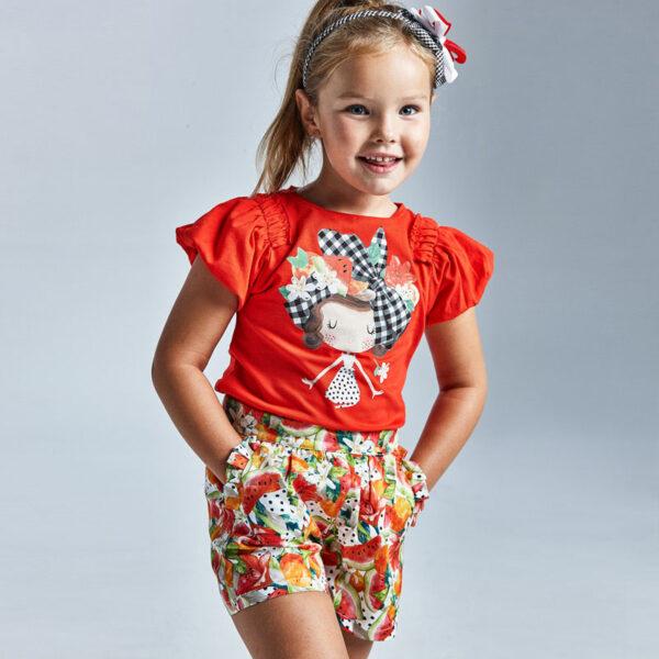 Falda pantalón estampado niña Mayoral
