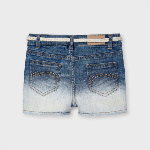 Pantalón corto apliques tejano niña Mayoral