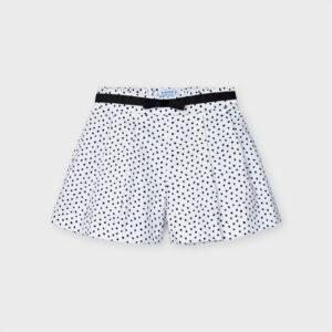 Pantalón corto lunares niña Mayoral