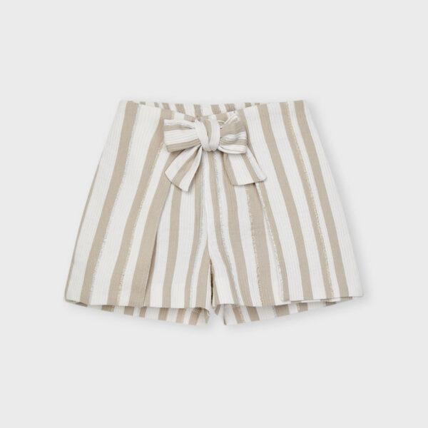 Pantalón corto rayas lurex Ecofriends niña Mayoral