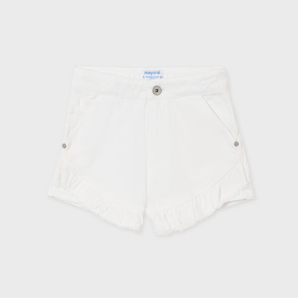 Pantalón corto sarga volante chica Mayoral