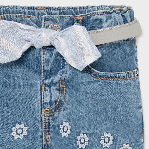 Pantalón corto tejano bebé niña Mayoral