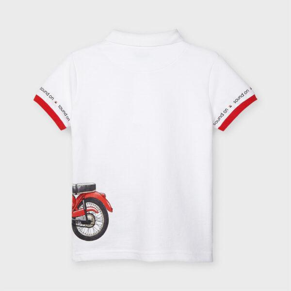 Polo manga corta moto niño Mayoral