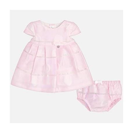 Vestido con braguita rosa primera puesta Newborn Mayoral