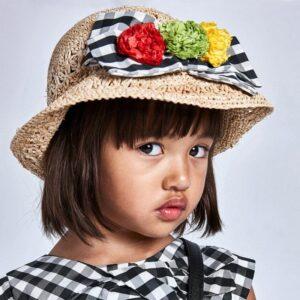 Sombrero lazo vichy niña Mayoral