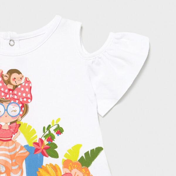 Vestido combinado tul bebé niña Mayoral