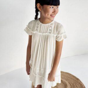 Vestido plumeti chica crudo Mayoral