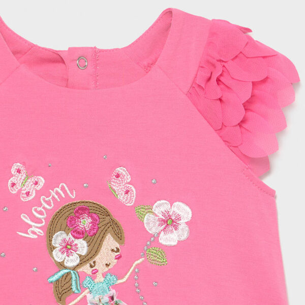 Vestido punto volantes bebé niña Mayoral