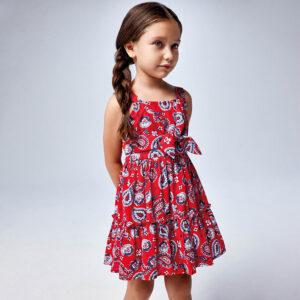 Vestido tirantes estampado niña Mayoral