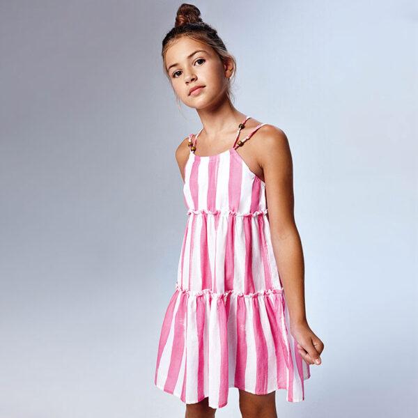 Vestido tirantes rayas chica Mayoral