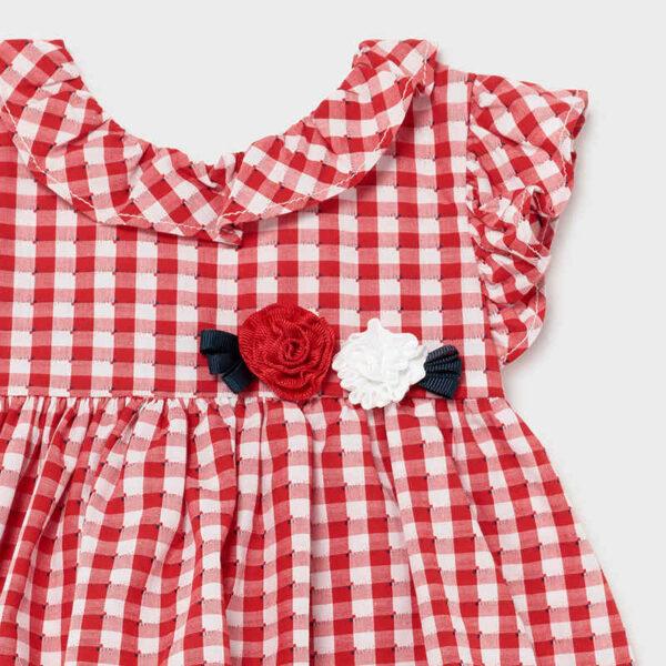 Vestido vichy amapola bebé niña Mayoral