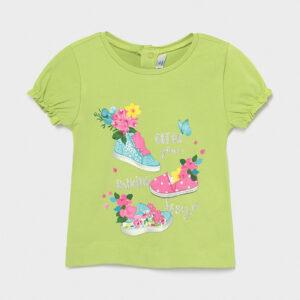 Camiseta Ecofriends manga fruncidas bebé niña