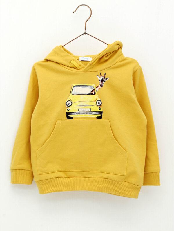 Sudadera con capucha coche jirafa Foque