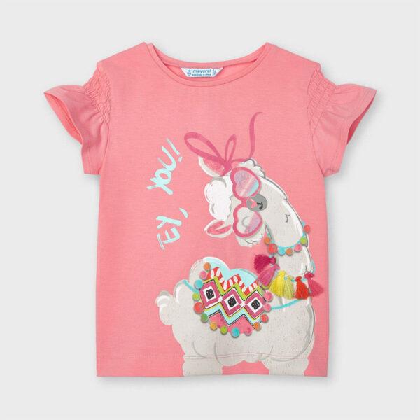 Camiseta Ecofriends serigrafía flamingo niña Mayoral