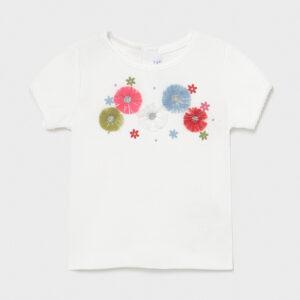 Camiseta manga corta canalé bebé niña Mayoral
