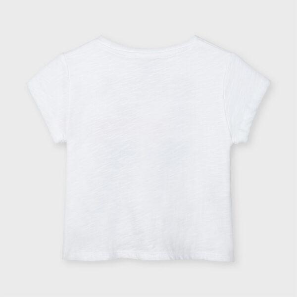 Camiseta manga corta nudo niña Mayoral