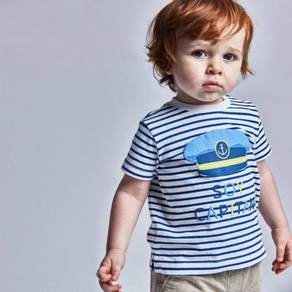Camiseta manga corta rayas bebé niño Mayoral