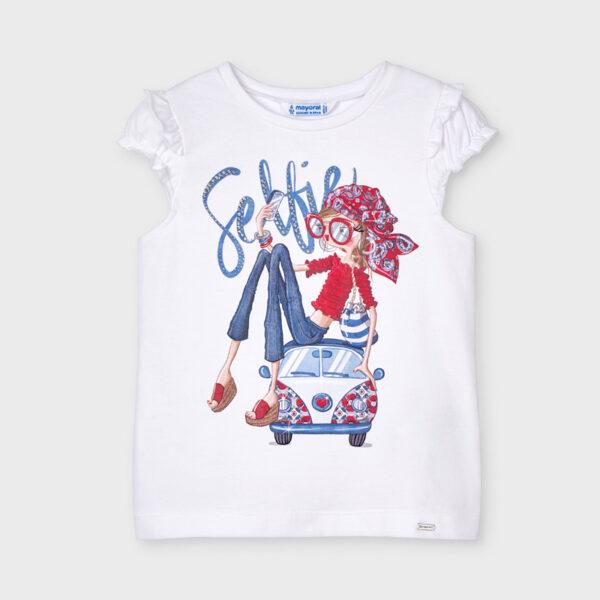 Camiseta manga volantes muñeca niña Mayoral