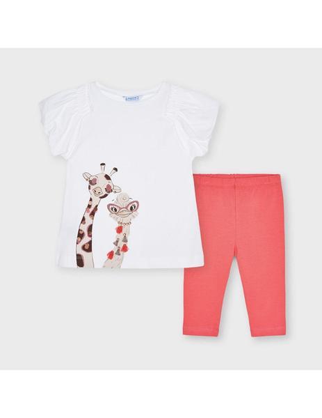 Conjunto leggings niña jirafa Mayoral